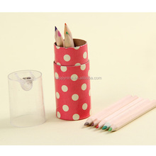 wholesale Color Pensil/Color Wood Crayon By the Sharpener In The Lid with Tube Container