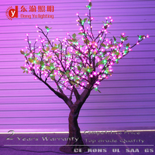 155 cm height green and pink light artificial cherry blossom light tree
