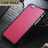 Luxury Leather Back Case with PC Frame Phone Back Cover For iPhone 6