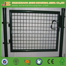 2015 new design green color powder coated 100*100 mm welded wire mesh garden gate (factory)