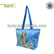 Custom-printed Full color printing Recycle pp laminated non woven eco shopping bag