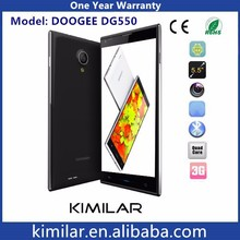 Wholesale Smartphone Doogee DG550 MTK6592 Octa Core 13.0MP Ram 1GB+ Rom 16G Sim Card Dual Standby Android Phone