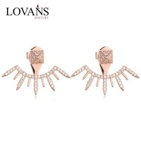 Fashion Italy Designs New Model Earrings Woman 925 Sterling Silver Gold Plated Jewelry FE076
