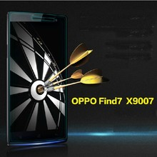 Factory price!!!ERI Parts Transparent 0.33mm tempered glass screen protector for OPPO find7