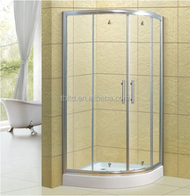 Factory made directly high quality sanitary ware bathroom shower room curved bathroom shower enclosure with glass shelf