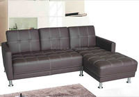 Modern style cheap living room round luxury mini corner sofa Synthetic/Pu/Faux/leather L shape sectional sofa