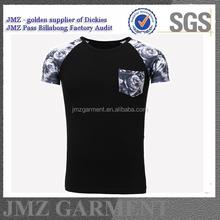polyester contrasted brand fashion t shirt t-shirt flora digital printing t shirt