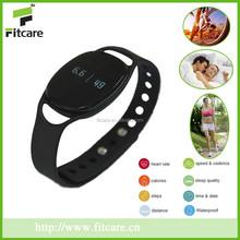 Bluetooth waterproof promotional fitness pedometer, fitness wristband, smart activity fitness tracker