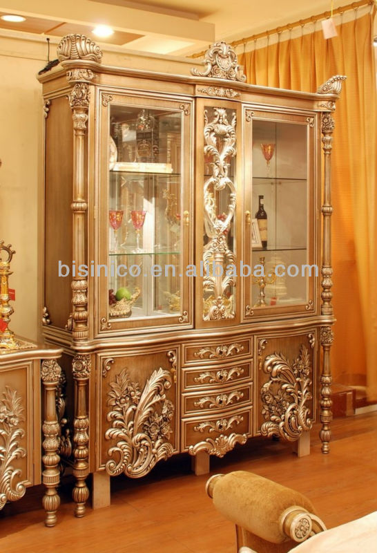 paris royal dining room disply cabinet luxury hand carved