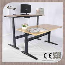 Steel height adjustable working table leg