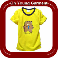 wholesale OEM factory price kids cotton blank plain round neck fashion soft summer printing t shirt for girls boys