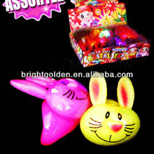 Promotion gift led bunny ear ring