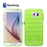 Grid Pattern Clear Hard Back Cover Tpu Case For Samsung Galaxy S6