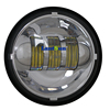 4.5 inch led headlights for motorcycle Harley led fog lamp