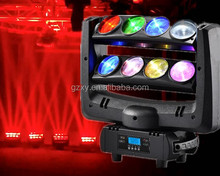 HOT!! 8pcs 12w RGBW 4in1 LED moving head spider light price for sales