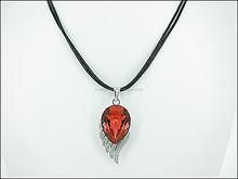 angel wings design 925 Sterling Silver Swarovki Elements Pendant