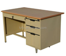 Luoyang flyer steel office desk with wooden top