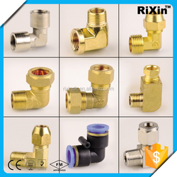 RX-1031 wholesale forged fitting elbow brass pipe elbow male and female elbow
