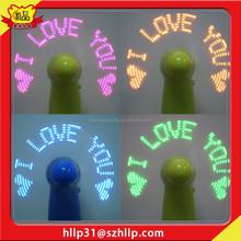 Fan Wholesale Special Mini Fan, Led Flashing Message fan as Party& Promotional Gift