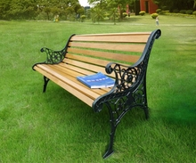 anti corrosion and water proof wood plastic hypaethral cast iron park bench material