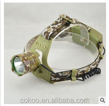 2015 T6 LED rechargeable headlamp flashlight / led headlamp for camping