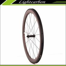 Carbon Fiber Bike Wheelset 700c 50mm Clincher C+T Carbon + Titanium Wheels for Sale, Free Shipping