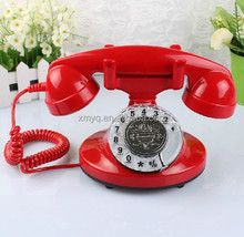 Fujian Gift Cheap Wholesale Vintage Red Phone, Modern Corded Telephone