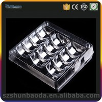 plastic divided tray 15 pcs macaron tray blister