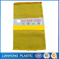 Hot sale!!! good design pp leno mesh bag 20kg, customized lable mesh net bag, gold supplier mesh bag for oranges,lemon