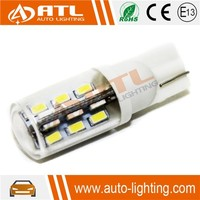 Factory price SMD3014 signal led bulb, T10 24W car led signal light, White car led signall bulb