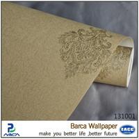 Good price pvc material modern hotel wallpaper