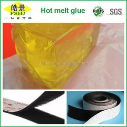 Hot melt pressure sensitive adhesive for Dual Lock Recloseable Fastener