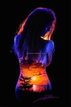 Natural body painting/ UV body paint glow in dark