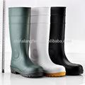 Las mujeres de color amarillo de goma botas de lluvia, las botas de agua para el trabajo, blanco gumboot w-6037