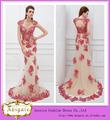 2013 turque robes de soirée New Style Marque avec sirène perlée lourde Cap manches Couleur Rouge (BG582)
