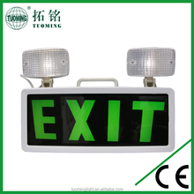 twin spot emergency light led rechargeable exit sign