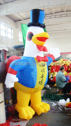 advertising inflatable Turkey with hat Turkey model