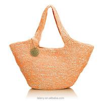 Lelany 2015 fashion hot sell lady bag beautiful straw beach bag
