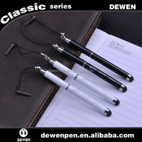 mini metal stylus pen for touch screen with lanyard for telephone