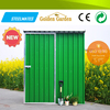 2015 eco friendly shed low price green aluminium garden shed for storage