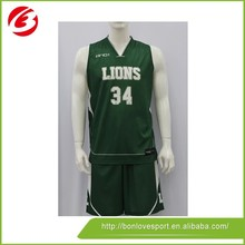 New Designs Basketball Jersey Green Color