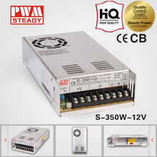 CE approved 350w S-350-12 constant voltage 120vac to 12 volt single output dc power supply / slim led power supply 12v
