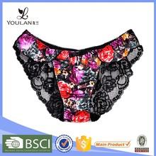 Fantasy OEM service flower printing young girls panties hot sexy girrls panty photos