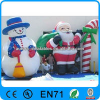 Chrismas inflatable decoration snowman and santa for promotion