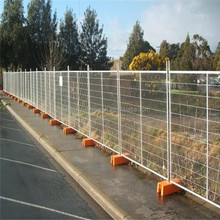 Temporary Fencing Orange Feet Concrete Filled Base