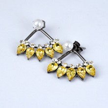 2015 Fashion Accessories Gun Black Plated Indian Earring Jhumka For Party