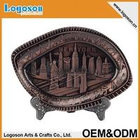 New York Custom new products art craft Souvenir Plate metal