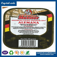Custom eggshell sample food labels sticker