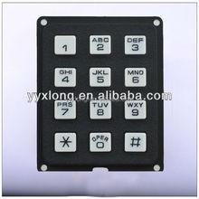 Black plastic waterproof industrial mini keypad with full functionality