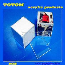 POP 2012 exqusite crystal desktop acrylic photo frame with wood QCY-WDC-978